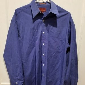 Nordstrom Relaxed Classic 15 - 34 Blue Dress Shirt